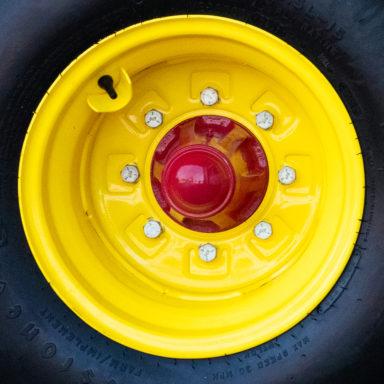 A silage feeder trailer wheel
