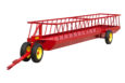 Long view of silage feeder wagon