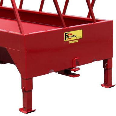 Retracted hitch on silaged feeder trailer