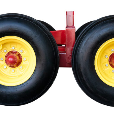 two back wheels for the hay wagon running gear