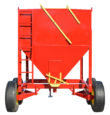 front view of the portable grain bin on wheels