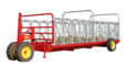 cattle headlock feeder on wheels