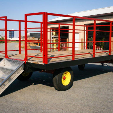 custom farm equipment with stairs