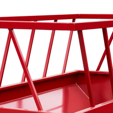 slant bars on the bunk feeder